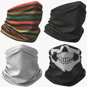 3D realistic mask pbr bandana model