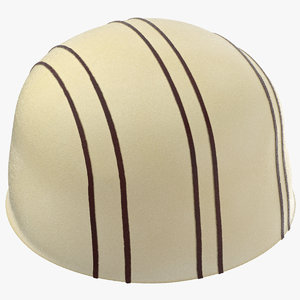3D white chocolate bonbon 01