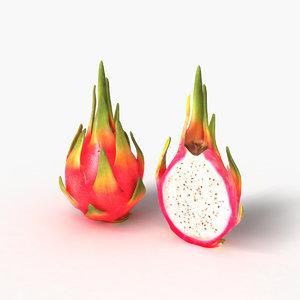pitaya dragon fruit 3D model