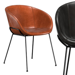 3D lee faux leather dining model