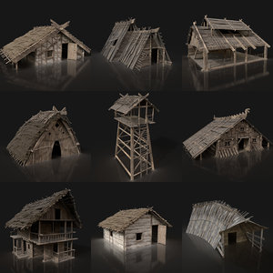 3D aaa gen medieval viking model