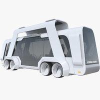 Sci-Fi Futuristic Future Bus