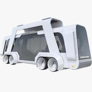 sci-fi futuristic future bus 3D