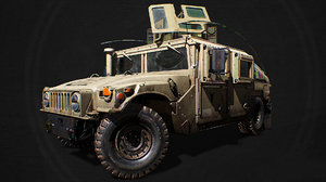 army m1151 military truck 3D model