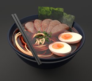 3D ramen bowl
