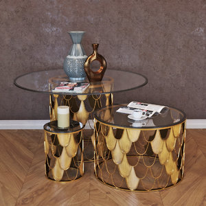 curations limited tables moscow 3D model