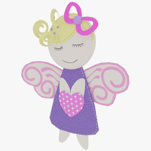 cute soft toy angel 3D model