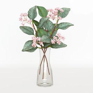 3D artificial flower smycka model