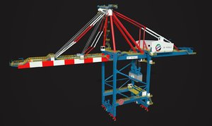 harbor crane contains 3D model