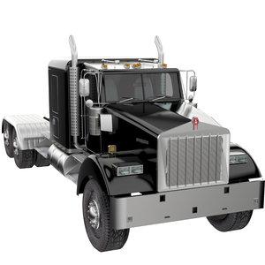 w900 truck semi 3D