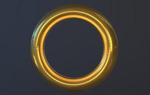 sonic ring 3D model