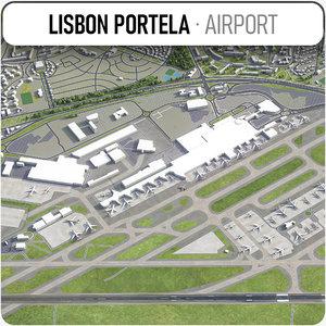 lisbon portela airport - 3D