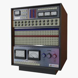 3D retro computer model