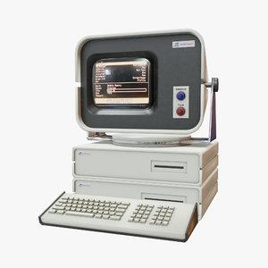 retro computer 08 3D model