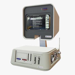 retro computer 10 3D