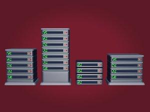 3D servers icons