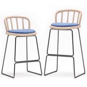 3D bar stool nym 2858-a