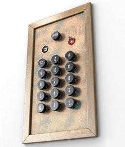 elevator control panel 3D model