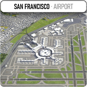san francisco international airport 3D model