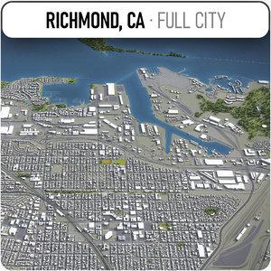 richmond california surrounding - 3D model