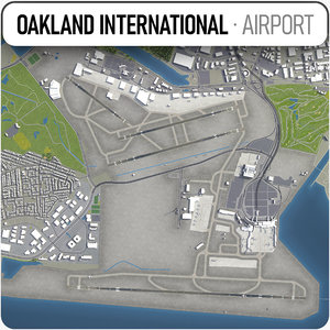3D oakland international airport -