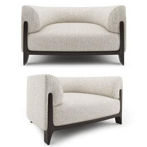 bob contemporary armchair -christophe 3D