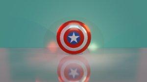 3D shield american hero