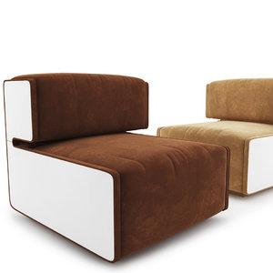pierre cardin lounge chairs 3D model