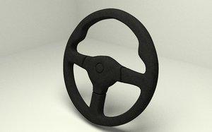 steering wheel vehicle 3D model