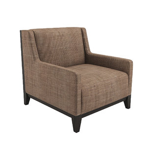 3D model morgan club lounge chair