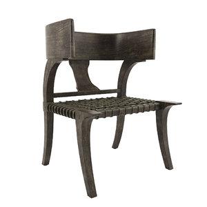 3D klismos chair