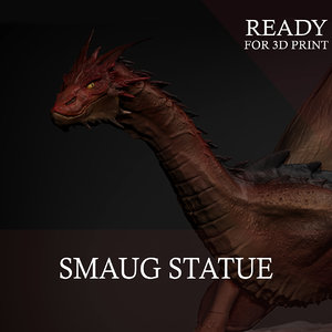 3D dragon print