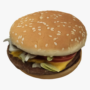 burger hamburger cheeseburger 3D