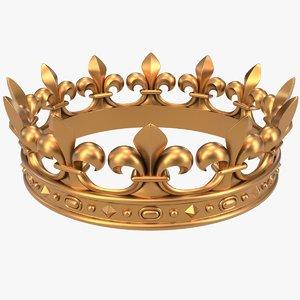 crown x2 fleur-de-lis cnc 3D model