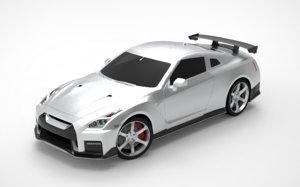 3D model nissan gt-r nismo sports car