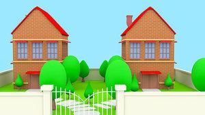 3D cartoon home