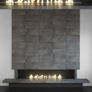 3D wall panel set 113