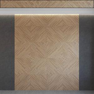wall panel set 117 3D