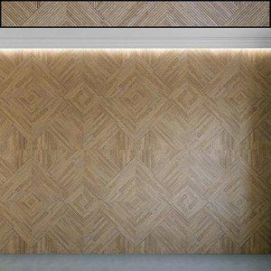 3D wall panel set 116 model