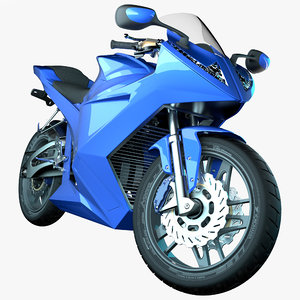 3D model futuristic motorcycle