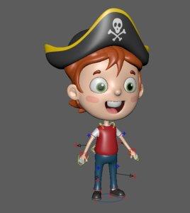 pirate child 3D