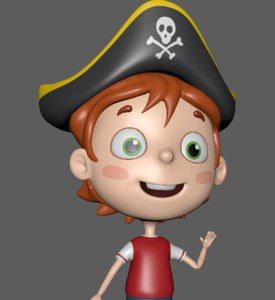 pirate child 3D