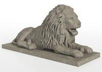 Stone Lion Sculpture