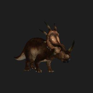 styracosaurus dinosaur animation 3D model