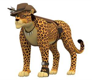sniper leopard 3D model