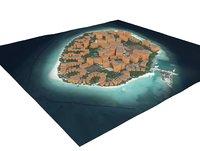3D island maldives