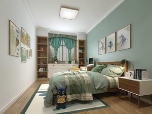child bedroom 360 degree 3D model