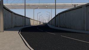 3D model highways freeway infrastructure