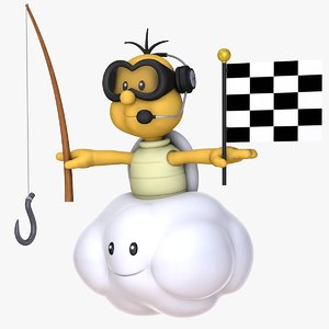 3D mario kart lakitu cloud model