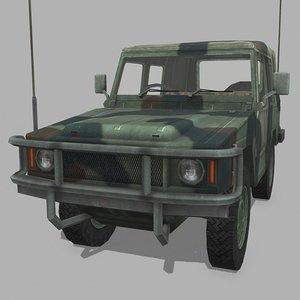 3D military jeep model